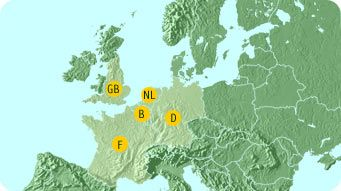 centre parcs locations europe map About Center Parcs   family resorts in Europe